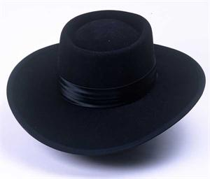 The hat worn by the great guitarist 5f761866003